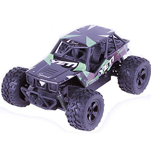 Remote Control Car, Kid Toys for Boys Girls, YJM 2018 2.4GHZ 2WD Radio Remote Control Off Road RC RTR Racing Car Truck GN (Car Race Super Solar)