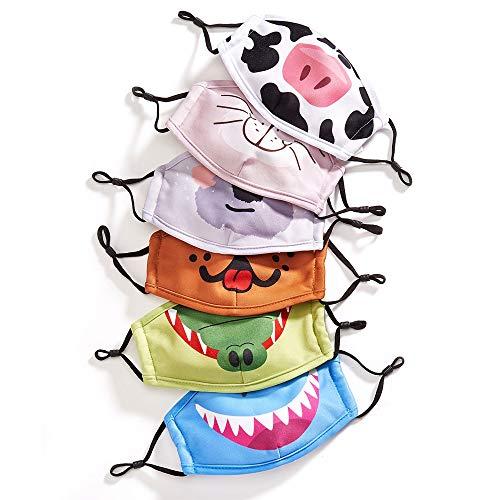 Kids Animal Face Mask – Reusable Kids Face Mask with Animal Prints – Fun Animal Childrens Face Mask – Childrens Masks…