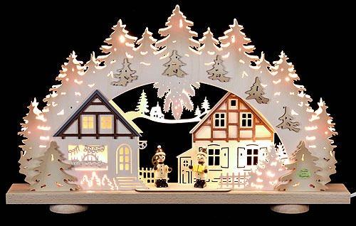 3D Candle Arch - 'Children in the Village' - 52x31,5x6 cm / 20x12x2.3 inch