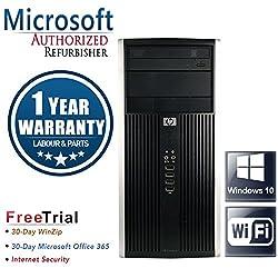 HP Pro 6200 Mini Tower Business High Performance Desktop Computer PC (Intel Core i3-2100 3.1GB Dual Core,6GB RAM DDR3,500GB HDD,DVD-ROM,Wi-Fi,Windows 10 Home 64)(Certified Refurbished)