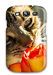 Shirley P. Penley's Shop 1907406K64400608 Design High Quality The Cat And The Rose Cover Case With Excellent Style For Galaxy S3
