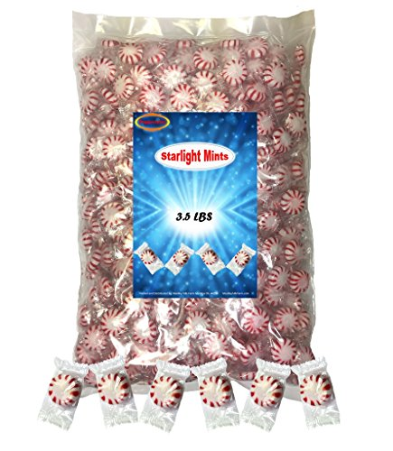 (Peppermint Starlight Mints 3.5 lbs individually wrapped Hard Candy)