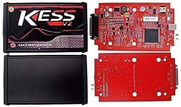 ZHUYU Car Kess Tuning V2.47 V5.017 ECU Kit Complet EU ma/ître en Ligne Aucun jeton Limite Outil de Programmation ECU OBD2 gestionnaire du Jeu de loutil de Diagnostic Voiture Color : Black