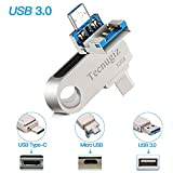 32 GB USB C Flash Drive Phone, Laptop & Tablet, High Speed Plugs USB 3.0 & USB Type C New Android Smartphones -Tecnugiz Memory Stick, Ideal Data Storage & Large Files Transfer