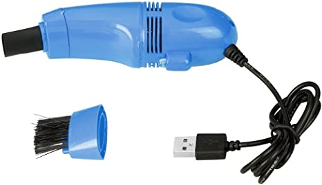 funbase portátil teclado de PC Puerto USB portátil pequeño aspirador con escoba Clean Cepillo Azul: Amazon.es: Electrónica