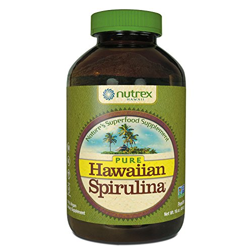 Pure Hawaiian Spirulina Powder 16 oz – Boosts Energy and Supports Immunity – Vegan, Non GMO – Natural Superfood Grown in Hawaii by Nutrex Hawaii