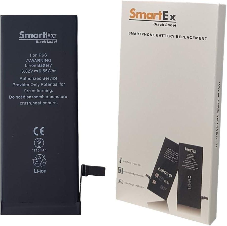 Smartex® Black Label Baterìa Compatible con iPhone 6S - 1715 mAh | Año 2020 | 2 Años de Garantía