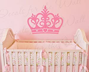 Princess Crown Wall Decal   Vinyl Queen Castle Nursery Girl Room Playroom    Sticker Art Large Decoration Sign Graphic Decor Mural Part 93