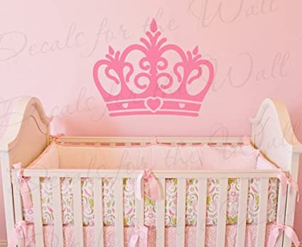 Amazon.com: Princess Crown Wall Decal - Vinyl Queen Castle Nursery ...