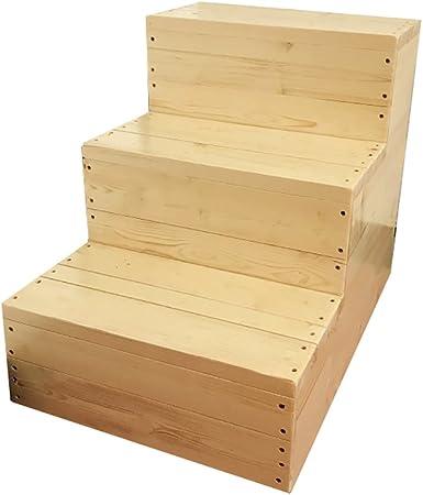 Wood Step Stoo Escalera de taburete de madera de 3 pasos para adultos y niños Artículos