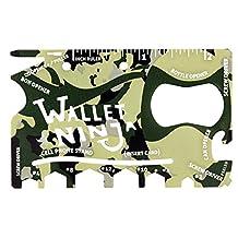Camouflage Wallet Ninja 18 in 1 Multi-purpose Credit Card Size Multi-Tool