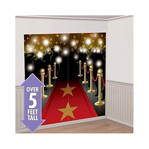 Lunarland RED CARPET HOLLYWOOD SCENE SETTER Happy Birthday Party Wall Decoration Decor kit