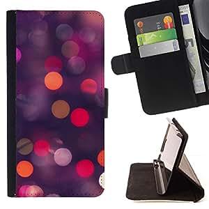For Samsung Galaxy A3 Case , Glitter puntos Spots Rosa Púrpura Naranja- la tarjeta de Crédito Slots PU Funda de cuero Monedero caso cubierta de piel