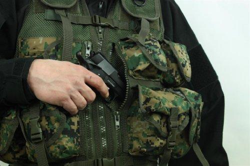 Army Patrol Tactical Assault Vest 9 Pockets Airsoft MARPAT Digital Woodland Camo