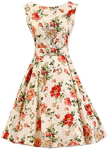 Eudolah Vestido retro de Audrey Hepburn DV3008