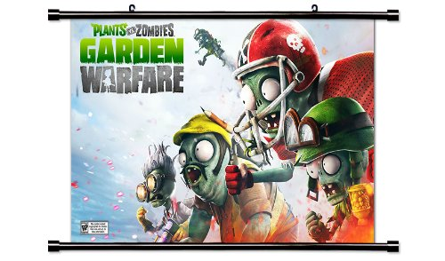 Plants vs Zombies: Garden Warfare Game Fabric Wall Scroll Po