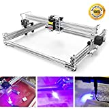 CNC 2500mw Laser Engraver Kits, TopDirect CNC Router Wood Carving Engraving Cutting Machine 2 Axis Desktop Printer for Leather Wood Plastic DIY (Working Area 350mm x 500mm)