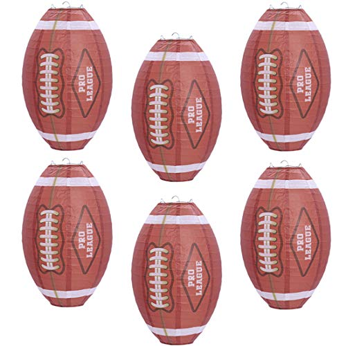 UNIQOOO 6Pcs American Football Super Bowl LV 2021 Sports Lantern Set, Large 12 Inch, Hanging Japanese Paper Lantern…