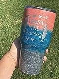 Trust the Journey Inspirational Glitter Tumbler Custom Ozark Tumbler