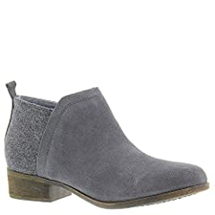 Suede and wool upper. Sleek, feminine silhouette. Hidden side zip for easy on and off. Classic back pull tab. Soft textile lining offers a comfortable next-to-skin feel. Lightly cushioned footbed provides both comfort and support. Stacked hee...