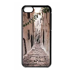 ALICASE Diy Hard Shell Case Road For Iphone 5C [Pattern-1]