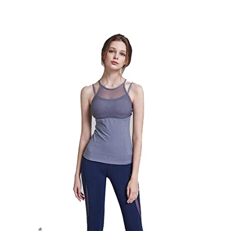 Liuxiaomiao Top de Yoga para Mujer Womens Sport 2 en 1 Tank ...