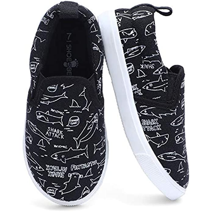 KIZWANT Toddler Boys & Girls Slip On Canvas Sneakers Casual Loafers
