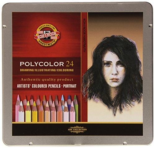 (Koh-i-noor Polycolor 24 Artists' Coloured Pencils 3824/14 Portrait )