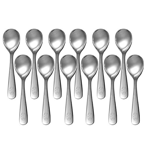 CUH 12 Pcs Stainless Steel Spoons Demitasse Espresso Teaspoon Coffee Bistro Espresso Dessert (Demitasse Espresso Coffee)