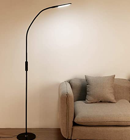 Floor Lamp Dimmable Led Reading Standing Lamps Touch Control Gooseneck Floor Light 5 Colour 5 Brightness Level Black Amazon Com