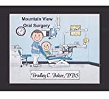 Endodontist Personalized Gift Custom Cartoon Print 8x10, 9x12 Magnet or Keychain