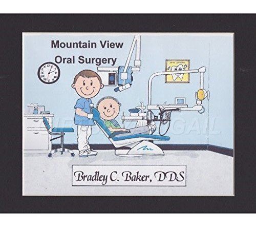 Endodontist Personalized Gift Custom Cartoon Print 8x10, 9x12 Magnet or Keychain by giftsbyabigail