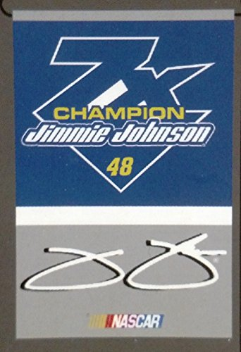 Nascar Garden Flag - Jimmie Johnson #48 2016 7x Champions 2-Sided GARDEN Flag Banner Nascar Racing