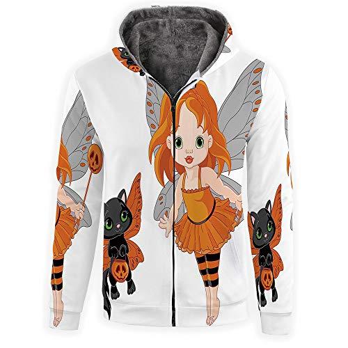 iPrint Men's Hoodies Full Zipper Hooded Sweatshirt -Halloween