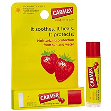 Carmex Click-Stick Moisturizing Lip Balm SPF 15 Strawberry 0.15 oz (Pack of 2) Orlane B21 Absolute Skin Recovery Care 3.5ml/0.11oz Sample Size