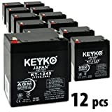 KEYKO Genuine KT-1245 12V 4.5Ah Battery SLA Sealed Lead Acid / AGM Replacement - F1 Terminal - 12 Pack