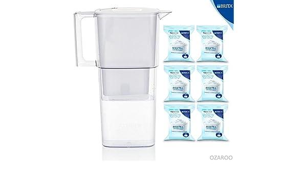 Brita nuevo Liquelli luz blanca fría filtro de agua jarra con 6 meses Maxtra unidades filtros: Amazon.es: Hogar
