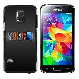 Caucho caso de Shell duro de la cubierta de accesorios de protección BY RAYDREAMMM - Samsung Galaxy S5 Mini, SM-G800, NOT S5 REGULAR! - 5 Elements Of Life