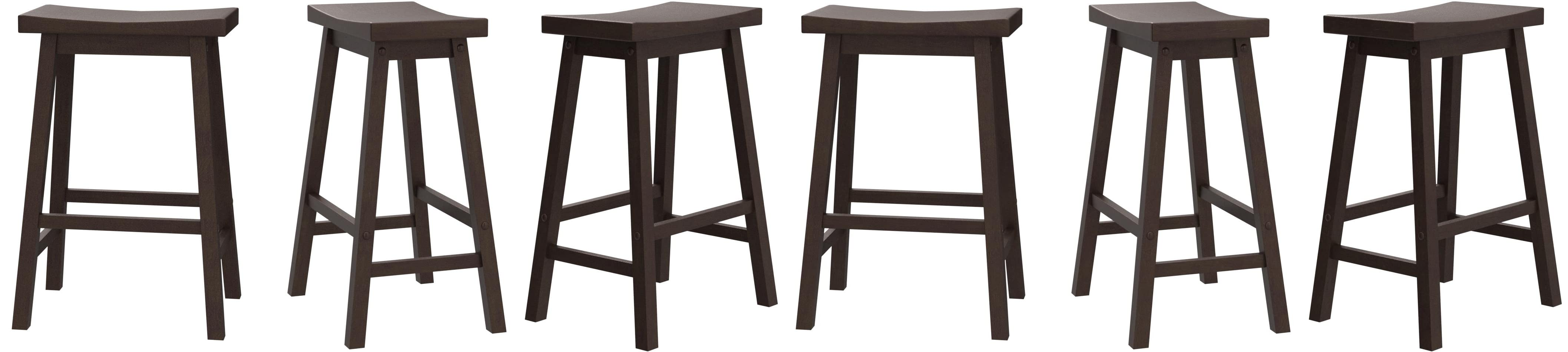 Pj Wood Saddle Seat Counter Stool 24 Inch Walnut Amazon Co Uk Kitchen Home