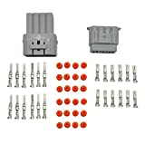 E-TING 1 Set 12 Pin way 2.2mm Waterproof Car ATV Electrical Wire Connector Plug