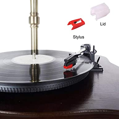 4 pcs Mallalah Record Player Needle Turntable Replacement Stylus Needles for Vinyl Record Player