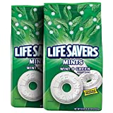 LIFE SAVERS--Wint O Green--Individually Wrapped, Wintergreen Mints--Icy Wintergreen Flavor Hard Candy Mints--2-50oz. Bags