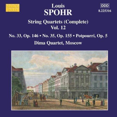 Spohr: String Quartets Vol.12, Nos.33 & 35 - 10 35 Marcos