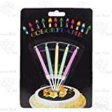 5 Color Flame Birhtday Candle set, Celebration Colorful Candle