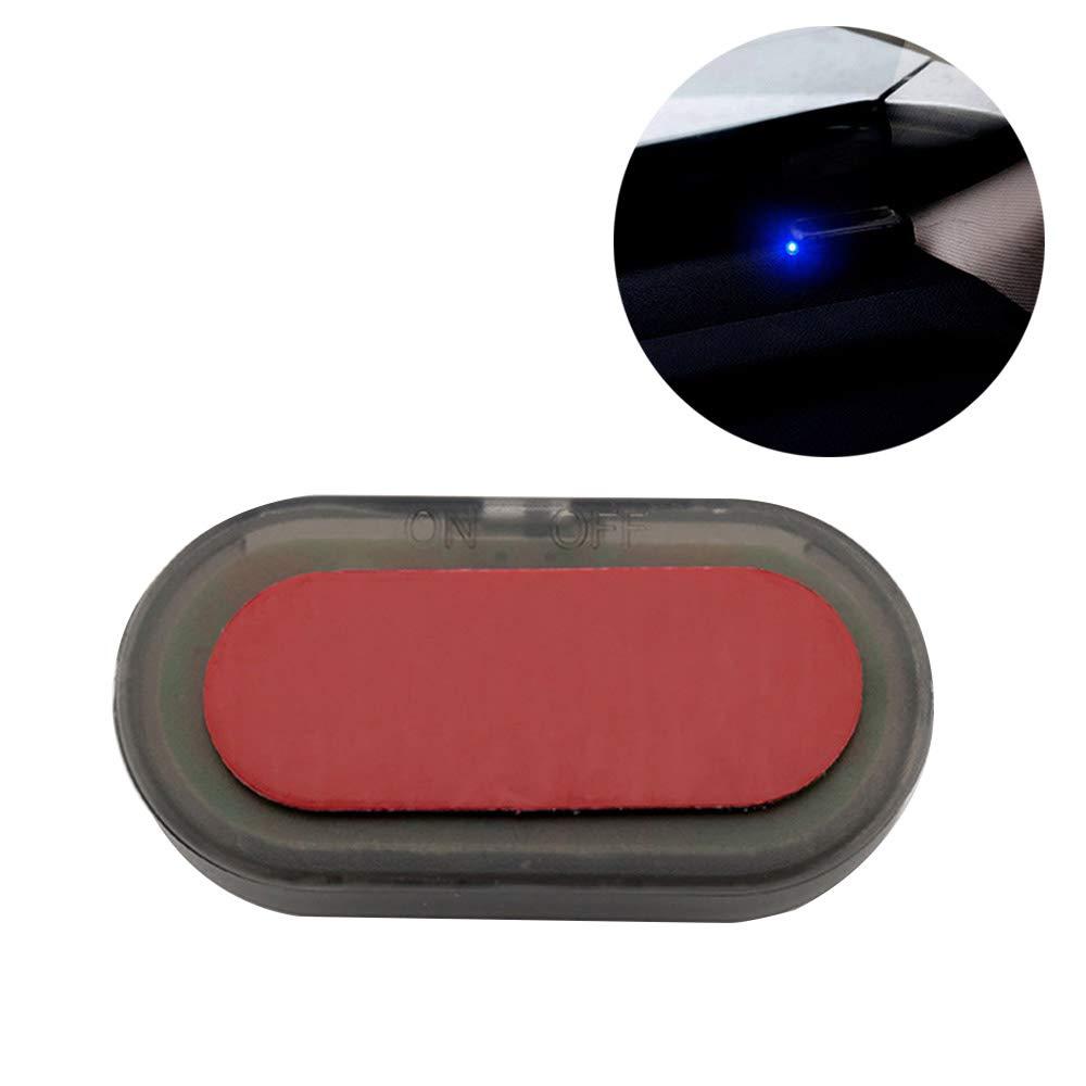 Xinyi Solar Anti-Theft Light,Universal Car Fake Solar Power Alarm Lamp Security System Warning Theft Flash Blinking Anti-Theft Caution LED Light