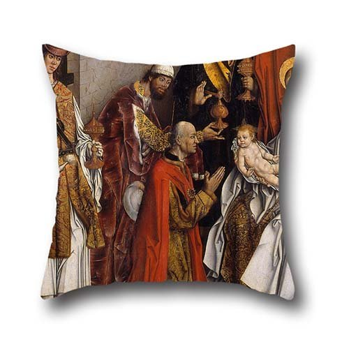 [The Oil Painting Fernando Gallego - Epiphany Pillowcase Of ,16 X 16 Inches / 40 By 40 Cm Decoration,gift For Bar Seat,office,play Room,teens Boys,floor,gf (two] (80s Rock God Costumes)