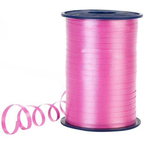 - Morex Poly Crimped Curling Ribbon, 3/16-Inch by 500-Yard, Pink