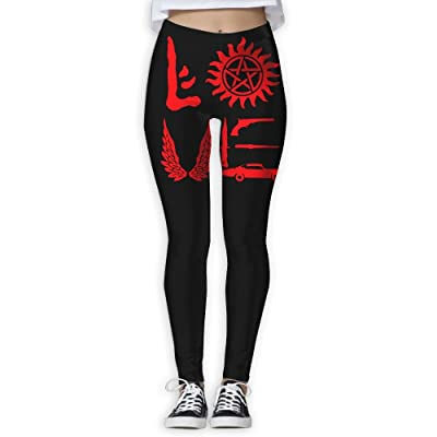 YJKOLOVE Love Supernatural Women's Slim Workout Full Length Yoga Pant Skinny Leggings Pants