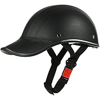 Amazon.com: Motorcycle Helmet Half Open Face Adjustable Size ...