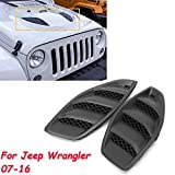 jk hood vent - Flash2ning / 2PCS Hood Vents 07-16 Jeep 10th JK Wrangler Power Dome Louvers Engine Inlet Vents 2007 2008 2009 2010 2011 2012 2013 2014 2015 2016